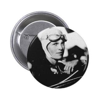 Vintage Amelia Earhart Photo 6 Cm Round Badge