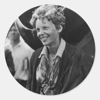 Vintage Amelia Earhart Photo Portrait Stickers