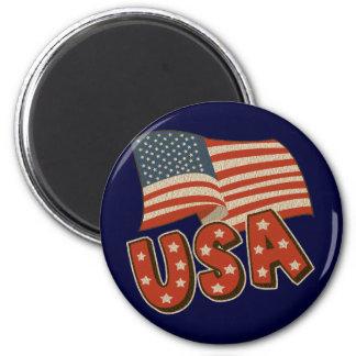 Vintage America Flag Magnet