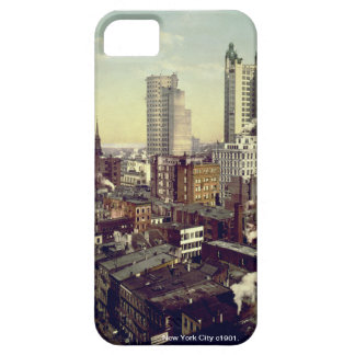 Vintage America, New York City skyscrapers iPhone 5 Cases