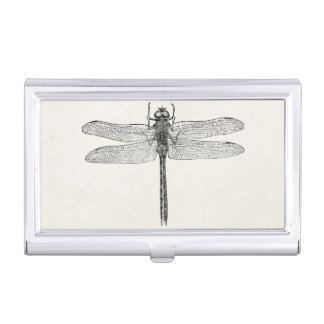 Vintage American Dragonfly Dragon Fly Template Business Card Holder