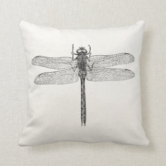 Vintage American Dragonfly Dragon Fly Template Cushion