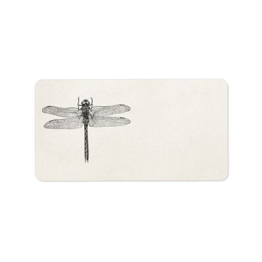 Vintage American Dragonfly Dragon Fly Template Label
