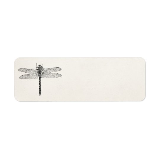 Vintage American Dragonfly Dragon Fly Template Return Address Label