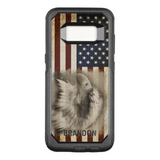 Vintage American Flag and Eagle, Personalized OtterBox Commuter Samsung Galaxy S8 Case
