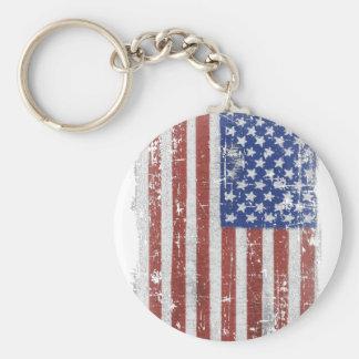 Vintage American Flag Art Key Ring
