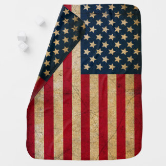 Vintage American Flag Baby Blanket