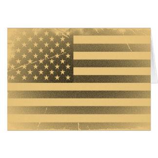 Vintage American Flag Greeting Card