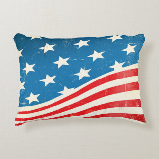 Vintage American Flag Decorative Cushion