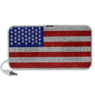Vintage American Flag Doodle Portable Speakers
