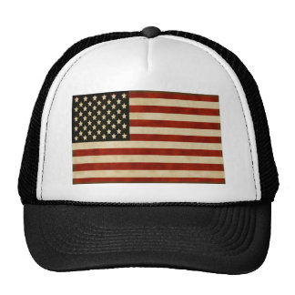 Vintage American Flag GIFTS Trucker Hat