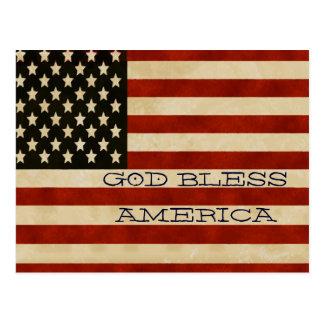 Vintage American Flag GIFTS Postcard