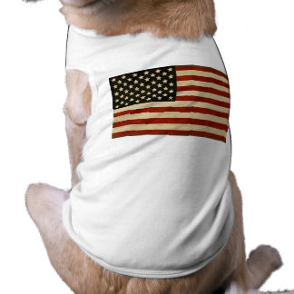 Vintage American Flag GIFTS Sleeveless Dog Shirt