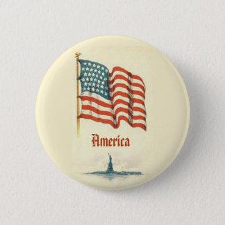 Vintage American Flag Gratitude Button
