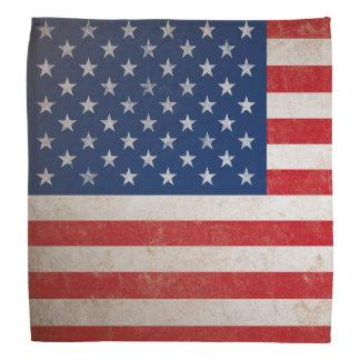 Vintage American Flag Grunge Patriotic Kerchief
