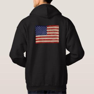Vintage American Flag Hoodie