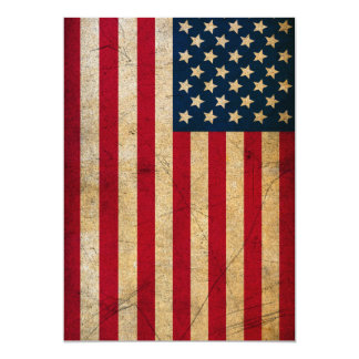 Vintage American Flag Invitation Card