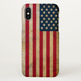Vintage American Flag iPhone X Case