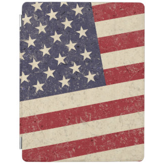Vintage American Flag July 4th BBQ Faded Old Glory iPad Cover
