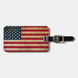 Vintage American Flag Luggage Tag