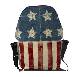 Vintage American Flag Messenger Bag