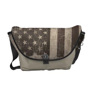 Vintage American Flag Courier Bag
