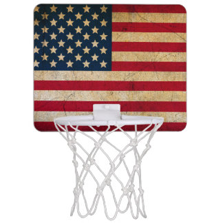 Vintage American Flag Mini Basketball Hoop