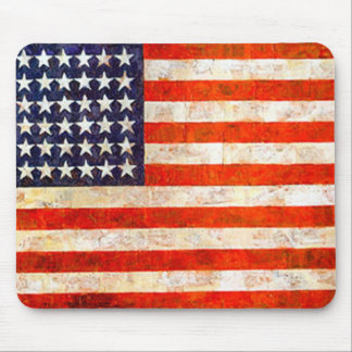 Vintage American Flag Mouse Pads