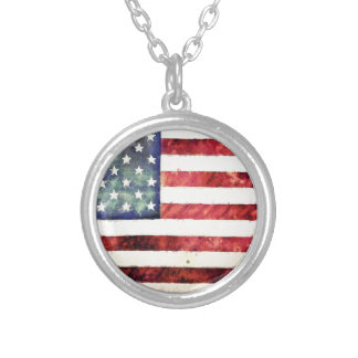 Vintage American Flag Custom Necklace