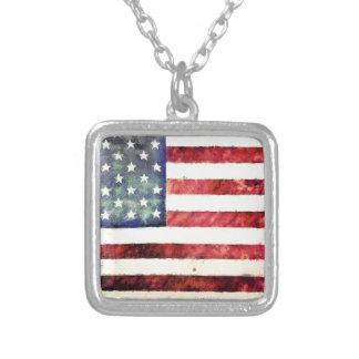 Vintage American Flag Necklace
