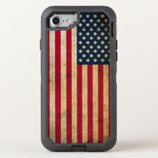 Vintage American Flag OtterBox Defender iPhone 7 Case