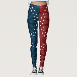 Vintage American Flag Pattern USA Leggings