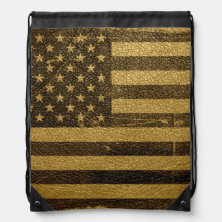 Vintage American Flag Backpack