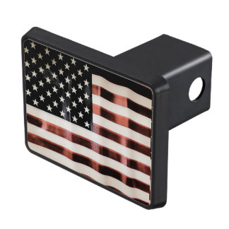 Vintage American Flag Trailer Hitch Cover