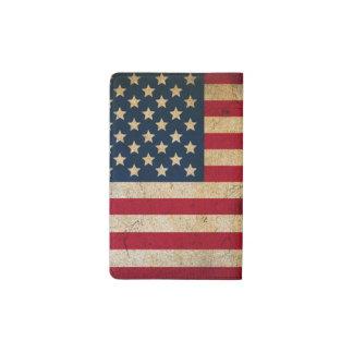 Vintage American Flag Pocket Moleskine Notebook