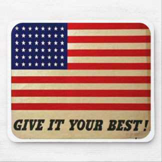 Vintage American Flag Poster Mouse Pad