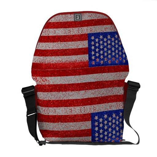 Vintage American Flag Rickshaw Messenger Bag