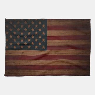 Vintage American Flag Tea Towel
