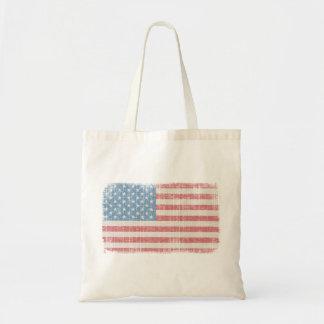 Vintage American Flag Canvas Bag