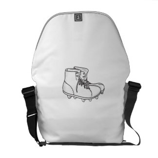 Vintage American Football Boots Drawing Commuter Bags
