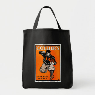 Vintage American Football Poster by Penfield Grocery Tote Bag