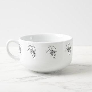 Vintage American Heritage Breed Roosters Soup Mug