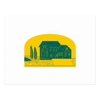 Vintage American House Retro Postcard