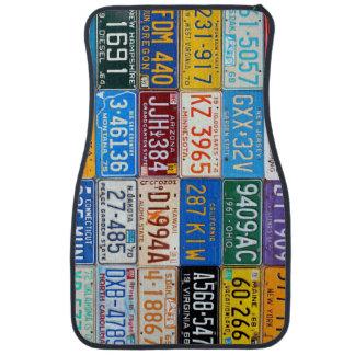 Vintage American License Plates Car Mat