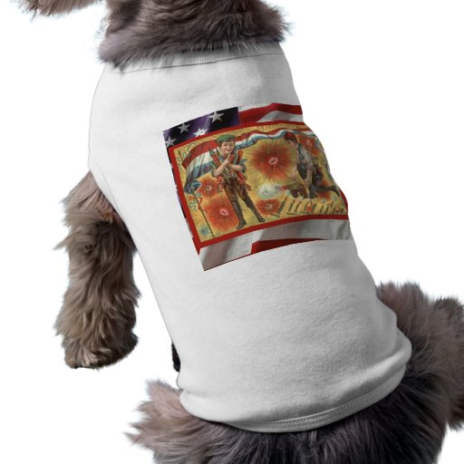 Vintage  American Patriotic, 4th July Firecrackers Pet T-shirt