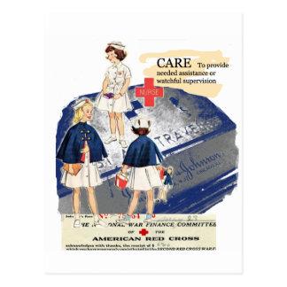 Vintage American Red Cross Greeting Postcard