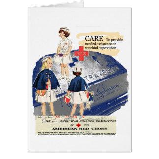 Vintage American Red Cross Note Card