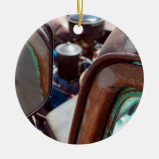 Vintage American Rusty Car Ceramic Ornament