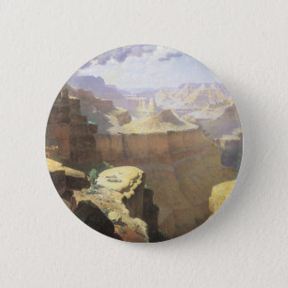 Vintage American West Art, Grand Canyon by Leigh 6 Cm Round Badge