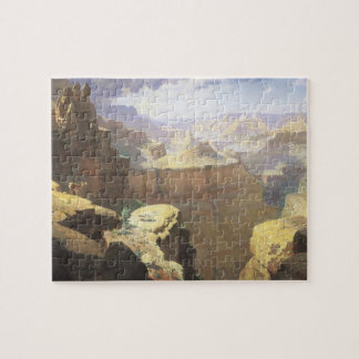 Vintage American West Art, Grand Canyon by Leigh Jigsaw Puzzle